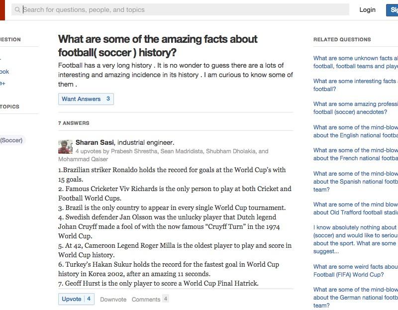 【サッカー英語コラム】[サッカー系「ネタ」を理解できるようになろう ~英語の質問特化型SNS、Quora編~]