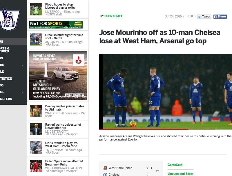 【サッカー英語コラム】サッカーニュースを読んでみよう~モウリーニョの苦難続く、プレミアリーグの試合結果編~
