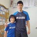 英語サッカースクール 中学生インターンKOKORO先生